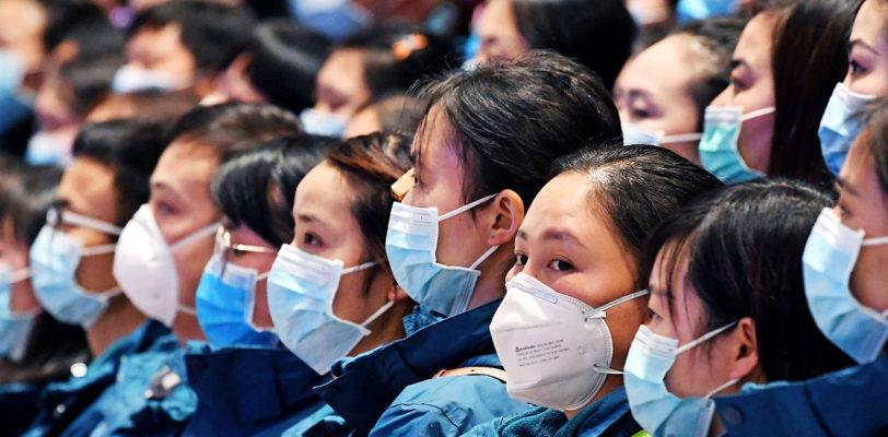 People wearing masks COVID19